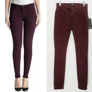 NWT Hudson Skinny Jean Mid Rise Brown Ankle 23